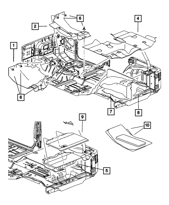 OEM NEW 2007-2010 Mopar Jeep 6 Cyl 3.8L Wrangler Front