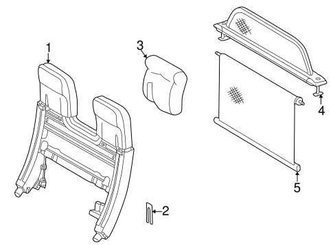 Roll Bar & Headrest Assembly for 1999 Mercedes-Benz CLK