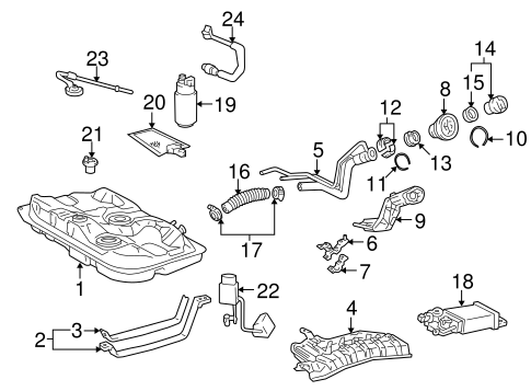 FUEL SYSTEM COMPONENTS for 1999 Toyota Corolla