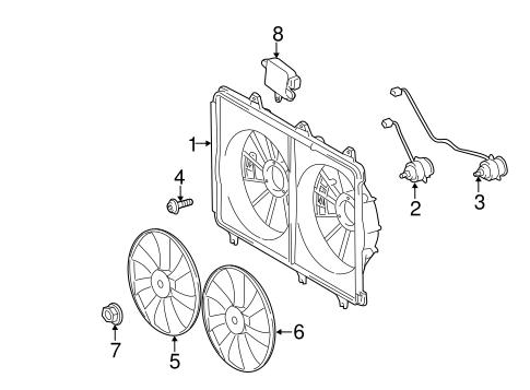Genuine OEM Cooling Fan Parts for 2011 Toyota Highlander