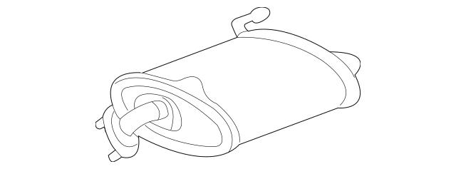 2004-2008 Acura TL SEDAN Muffler, L Ex 18305-SEP-A03