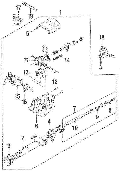 Steering Column Assembly for 1994 Chevrolet Cavalier