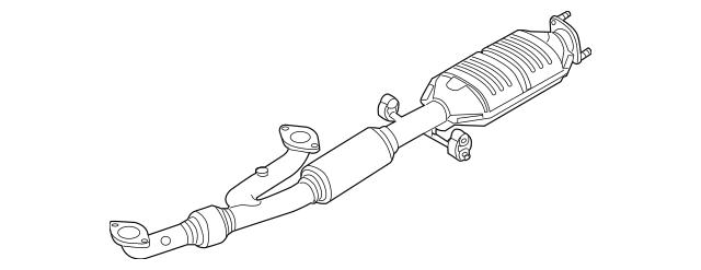 2004-2006 Kia Amanti Catalytic Converter 28610-3F430