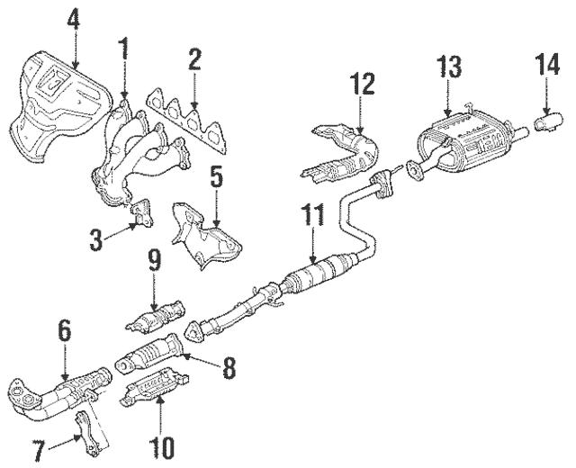 1988-1995 Honda Gasket, Ex Manifold (Ishino Gasket) 18115