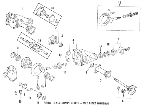Genuine OEM Front Axle & Carrier Parts for 1994 Toyota