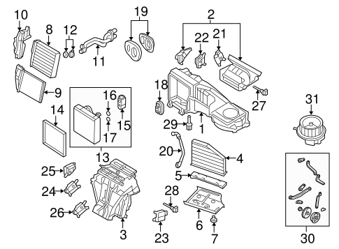 Evaporator & Heater Components for 2009 Volkswagen Jetta