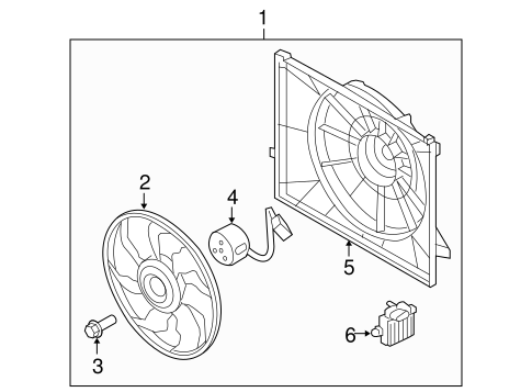 Cooling Fan for 2012 Hyundai Tucson