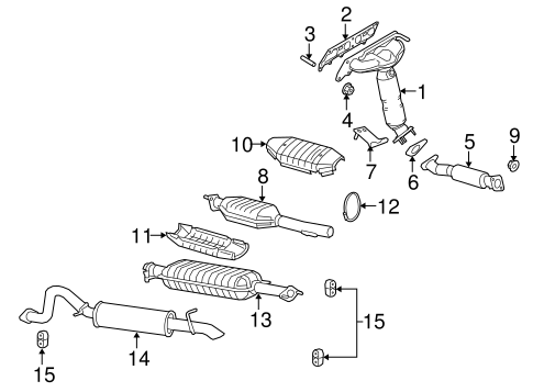 OEM 2008 Mercury Mariner Exhaust Components Parts