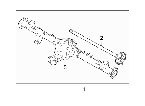 AXLE & DIFFERENTIAL for 2015 Nissan Xterra