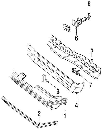 Front Bumper Parts for 1985 Oldsmobile Cutlass Supreme