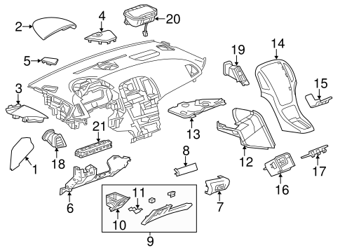 Instrument Panel Components for 2012 Buick Verano