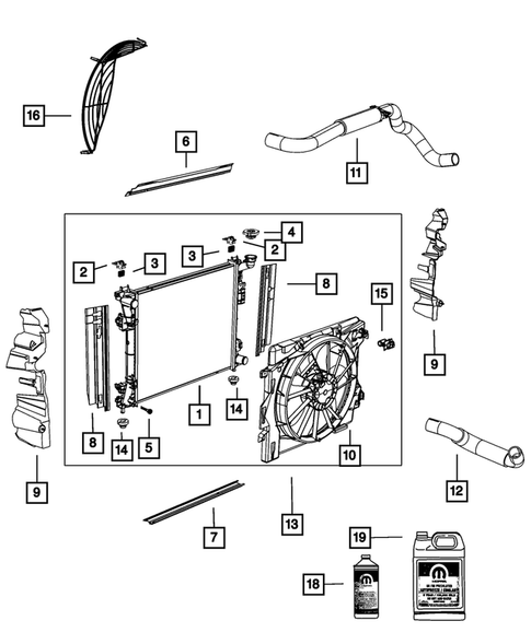 Radiator and Related Parts; Charge Air Cooler for 2012