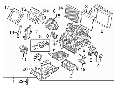 Evaporator & Heater Components for 2012 Ford Focus