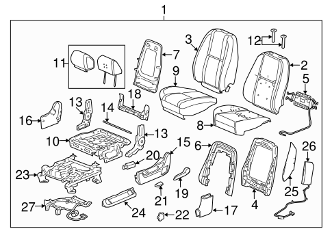 Front Seat Components for 2013 Chevrolet Silverado 2500 HD