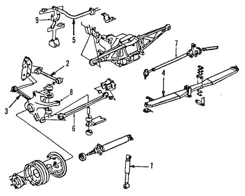 OEM 1989 Chevrolet Corvette Ride Control Parts
