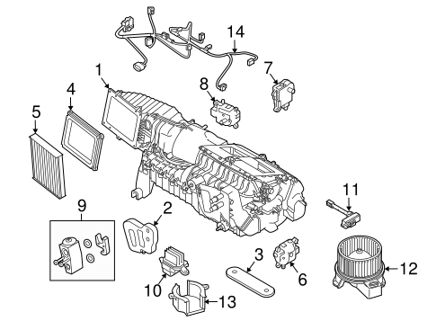 Evaporator & Heater Components for 2014 Ford Mustang