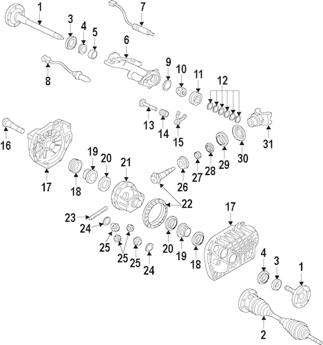 DIFFERENTIAL for 2009 GMC Sierra 1500