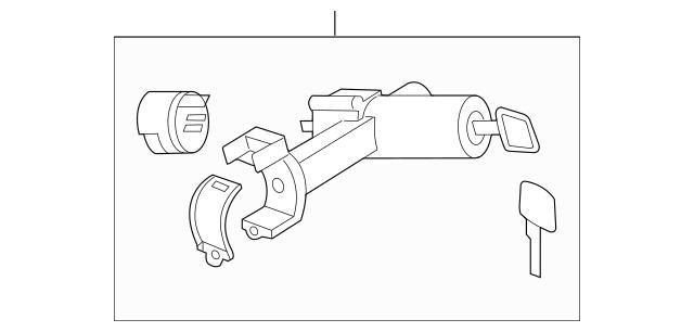 2007-2012 Nissan Sentra Ignition Lock Cylinder D8700-ET000