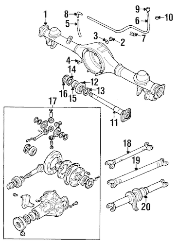OEM 1998 Chevrolet Tracker Axle & Differential Parts