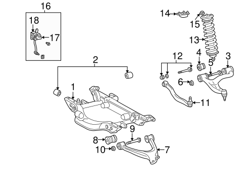 REAR SUSPENSION for 2001 Mercedes-Benz ML320