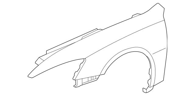 2003-2007 Honda Panel Set, R Front Fender (DOT) 04620-SDA