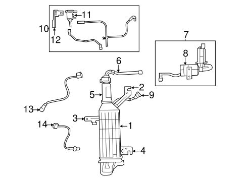 Emission Components for 2012 Chrysler Town & Country