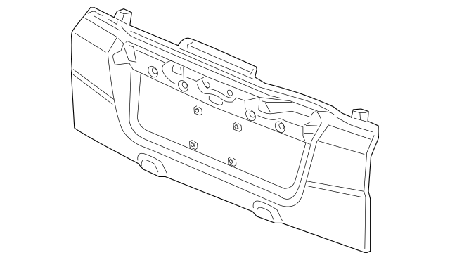 2009-2011 Honda ELEMENT 5-DOOR Tailgate (Lower) (DOT