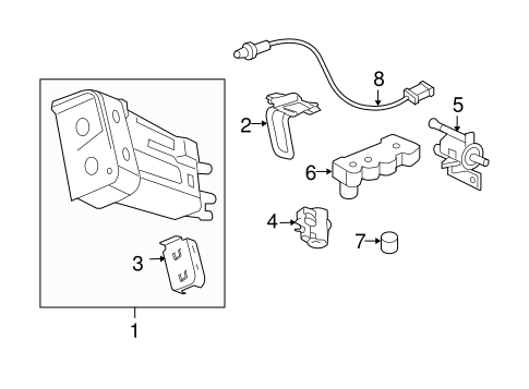 EMISSION COMPONENTS for 2011 Chevrolet HHR