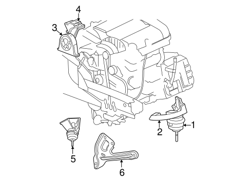 Engine & Trans Mounting for 2007 Chrysler Pacifica Parts