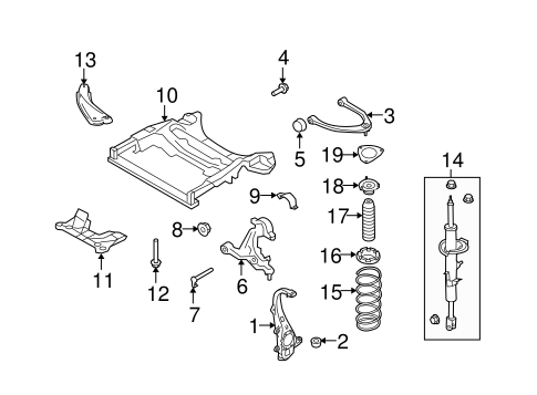 Suspension, Springs & Related Components for 2008 Infiniti