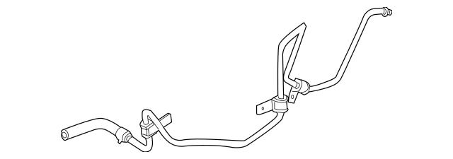 2004-2009 Cadillac SRX Power Steering Return Hose 10388415