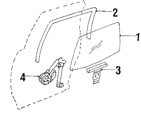 REAR DOOR for 1991 Buick Century (Custom)