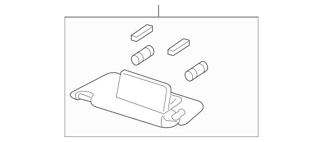 2013-2015 Honda ACCORD COUPE Sun-Visor Assembly, L *NH836L