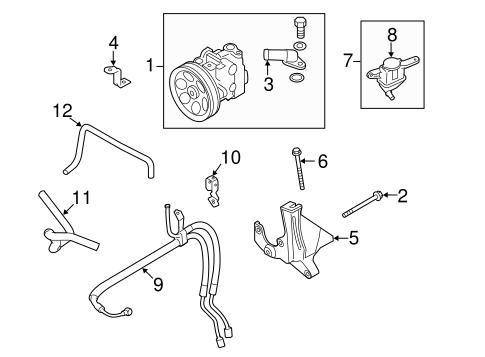 Pump & Hoses for 2010 Subaru Impreza
