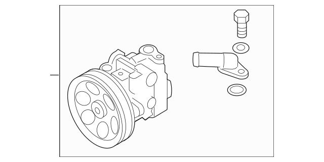 2008-2014 Subaru Power Steering Pump Assembly / Turbo car