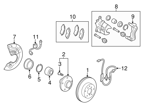 Genuine OEM Front Brakes Parts for 2014 Toyota Avalon XLE