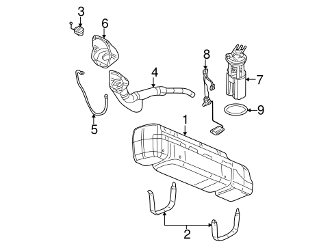 Fuel System Components for 2005 Chevrolet Silverado 2500