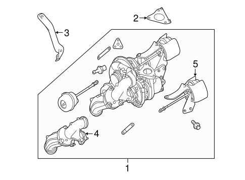 Turbocharger & Components for 2015 Mercedes-Benz Sprinter
