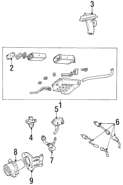 Emission Components for 1996 Lincoln Continental