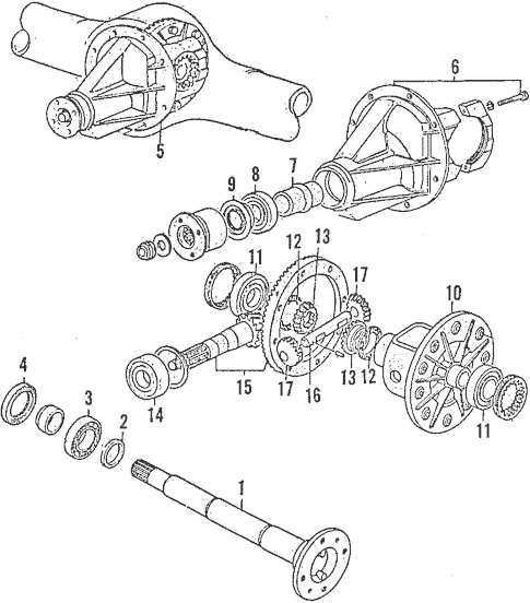 Genuine OEM Rear Axle Parts For 1990 Mazda B2200 SE-5