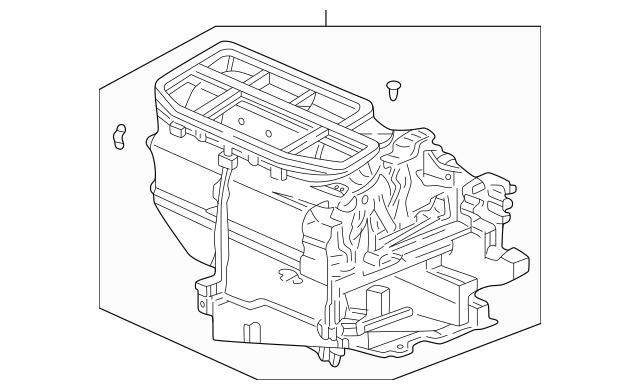 2003-2005 Honda CIVIC HYBRID SEDAN Heater Sub-Assembly