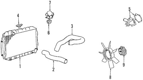Radiator & Components for 1994 Mitsubishi Mighty Max