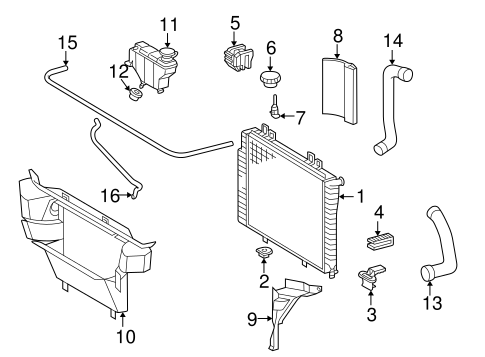 Radiator & Components for 1999 Mercedes-Benz C 230