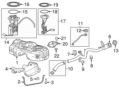 Fuel System Components for 2015 Jeep Cherokee Parts