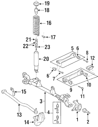 Suspension Components for 2000 Jeep Cherokee Parts