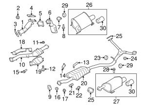 Genuine Subaru Legacy Intermediate Pipe 44201AG01A | eBay
