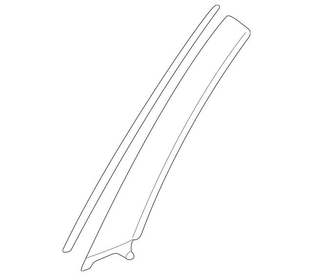 2001-2005 Mitsubishi Eclipse Pillar Molding MR375741