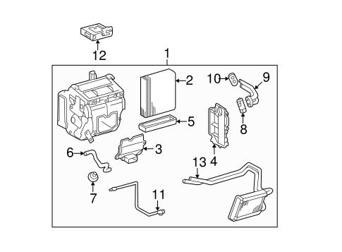 Genuine OEM Evaporator Components Parts for 2005 Toyota