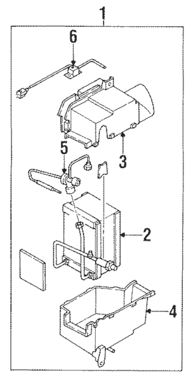 Expansion valve mazda bc1m 61 j14
