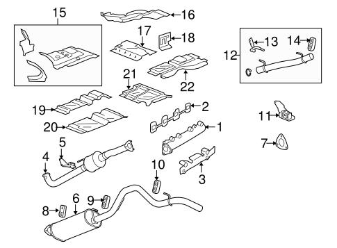 OEM Exhaust Components for 2006 GMC Savana 3500